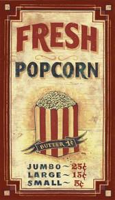 Popcorn Vintage Wooden Sign