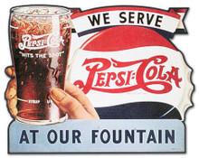Pepsi Vintage Wooden Sign