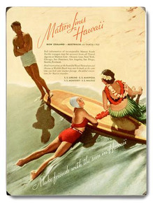Matson Surf Board Wooden Sign