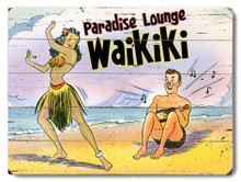 Paradise Lounge Wooden Sign