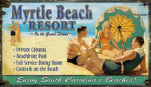 Myrtle Beach Wooden Sign