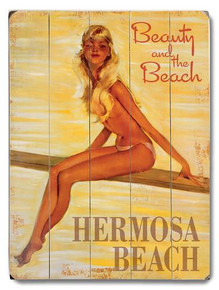 Hermosa Beach Wooden Sign