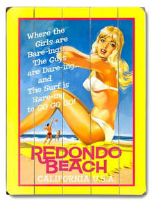 Redondo Beach Wooden Sign