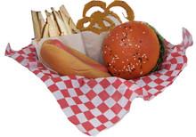 Waxed Paper Liner for Burger Basket