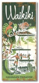 Waikiki Paradise Wooden Sign
