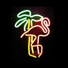 Flamingo Palm Neon Sculpture