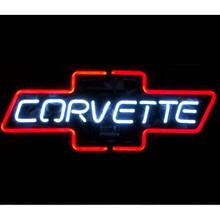 Corvette Bowtie Red Neon Bar Sign