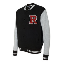 Varsity Sweatshirt Jacket with Letter