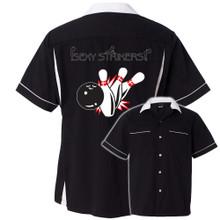 Cruisn with Flames Bowling Shirt
