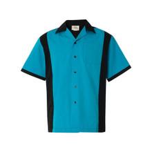 Retro Turquoise Bowling Shirt