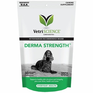 Derma Strength™ Skin & Coat Care for Dogs (30 Bite-Sized Chews)