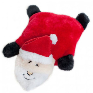 Squeaky Pad Dog Toy | Santa