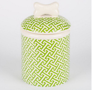 Green Trellis Treat Jar