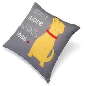 Wag More Bark Less Pillow