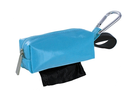 Duffel Dog Waste Bag Holder   Blue