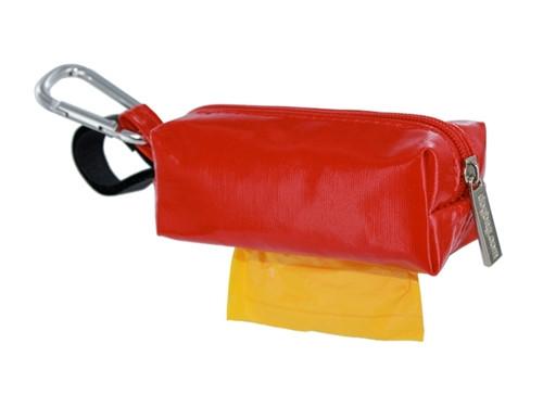 Duffel Dog Waste Bag Holder   Red
