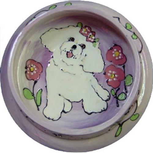 Bichon Frise Dog Bowl