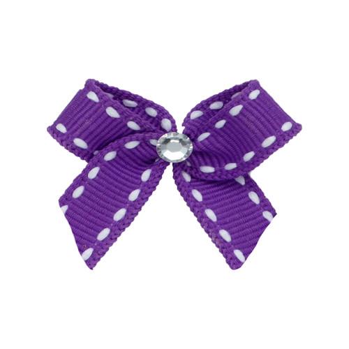 Mini Lilac Dog Hair Bow