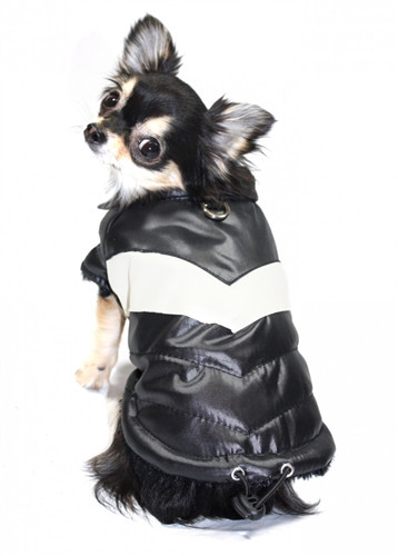 Puffy V Dog Coat | Black