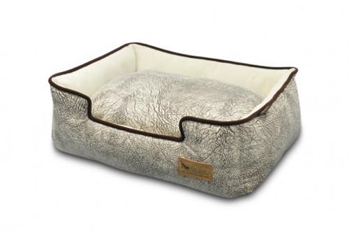 Lounge Bed | Savannah Ash Gray & Chocolate