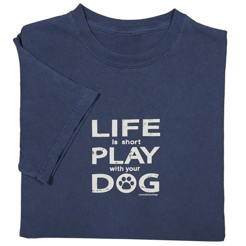 Life Is Short II T-shirt Blue