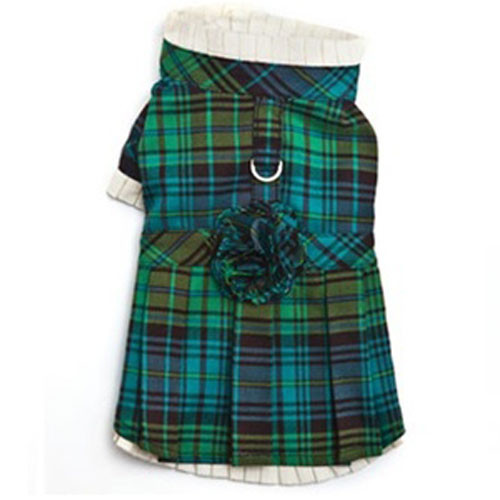 Green Plaid Holiday Dress