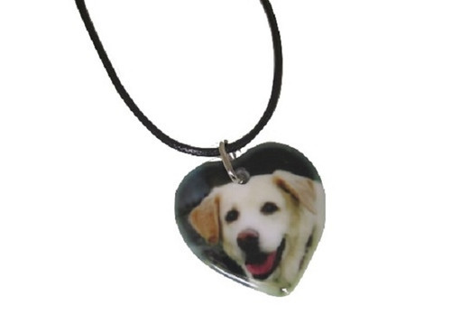 Custom Porcelain Heart Photo Necklace