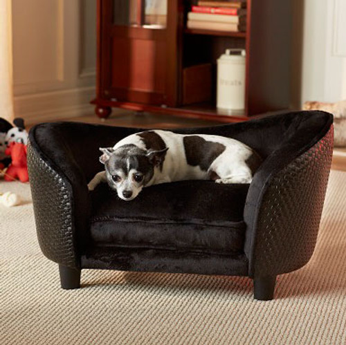 Ultra Plush Snuggle Bed-Basketweave | Black