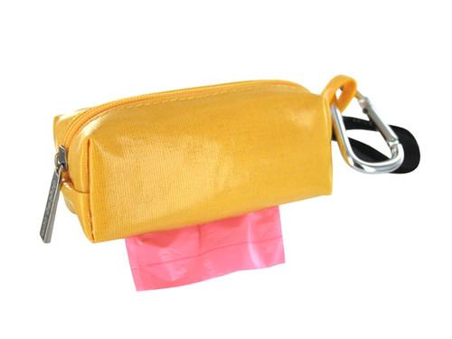 Duffel Dog Waste Bag Holder   Yellow
