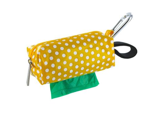 Duffel Dog Waste Bag Holder | Yellow Dots