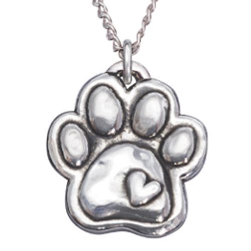 Paw & Heart Sterling Silver Necklace