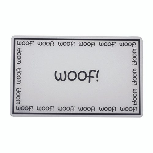 Woof Slicker Dog Placemat
