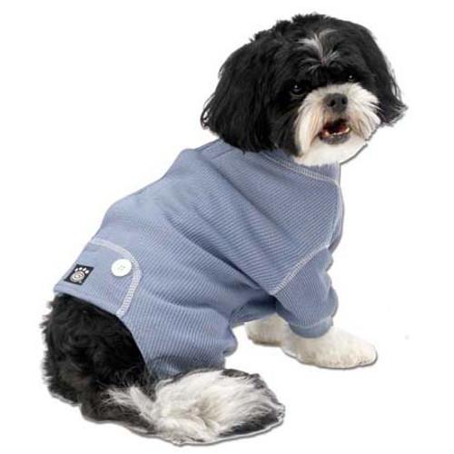 Thermal Dog Pajamas   Blue