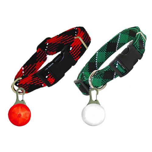 Reflective Collar & LED Light Pet Tag Collection