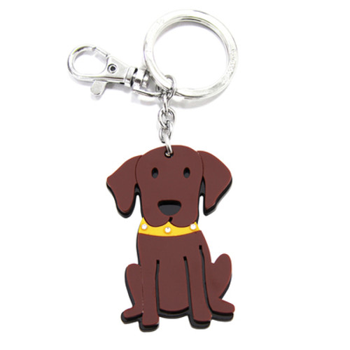 Chocolate Labrador Key Chain