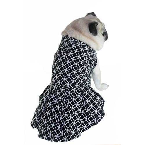 Isabella Box Pleat Dress   Black & White