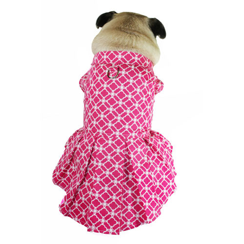 Isabella Box Pleat Dress   Pink & White