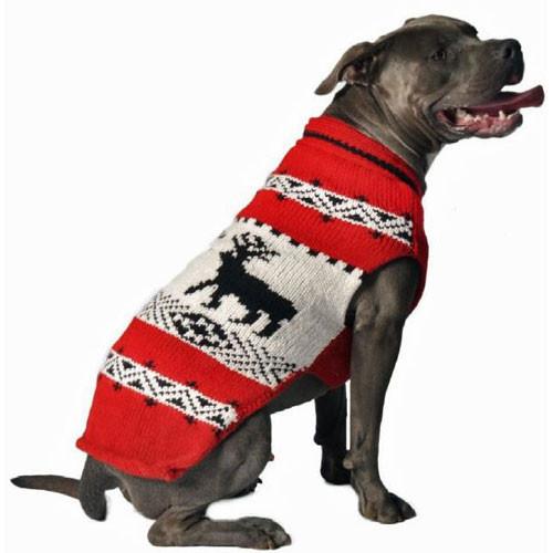 Red Reindeer Dog Sweater