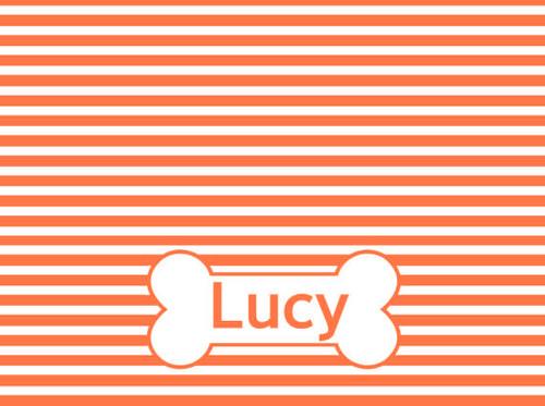 Personalize It | Striped Dog Bowl Mat | 12 Colors