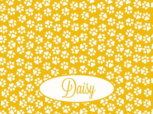 Personalize It | Paw Prints Dog Bowl Mat | 12 Colors