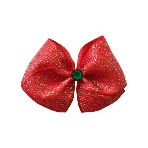 Poinsettia Hair Bow