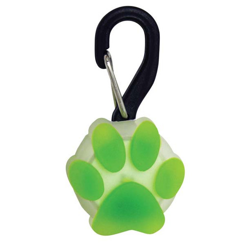 PetLit LED Collar Light | Green Paw