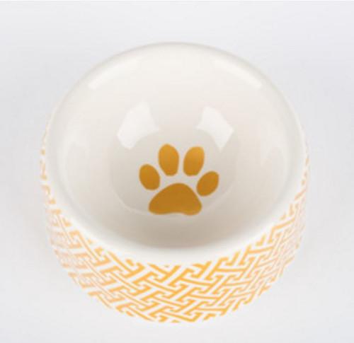 Gold Trellis Dog Bowl