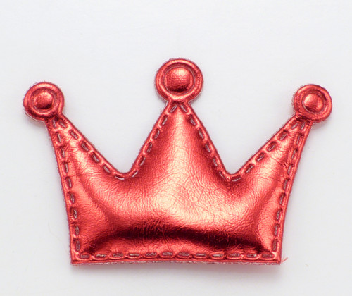 Red Crown Dog Hair Bow