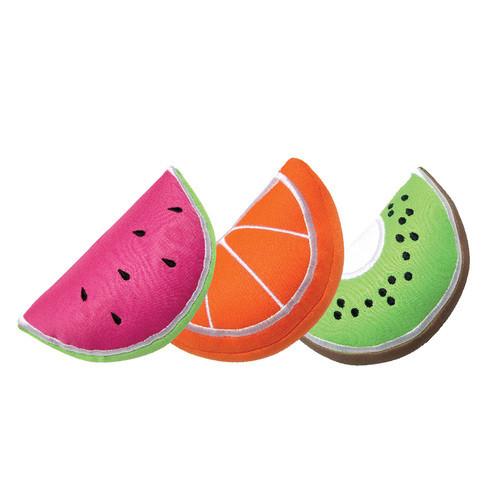Freezable Fruit Wedge Dog Toy