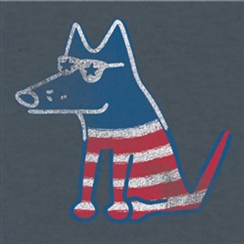 Patriotic Teddy Light Weight Heather Navy T-Shirt