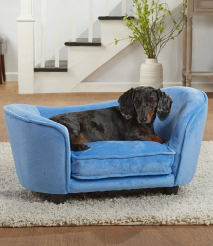 Ultra Plush Snuggle Bed   Blue