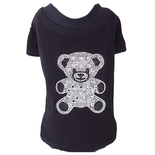 Teddy Bear Rhinestone Tank | Black
