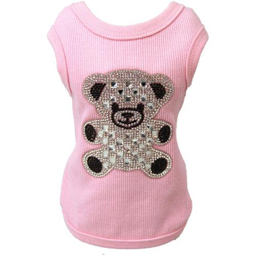 Teddy Bear Rhinestone Tank | Pink