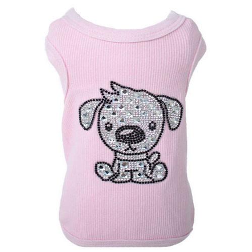 Doggy Love Rhinestone Tank | Pink